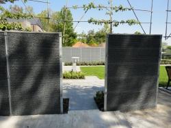 Securifor panelen kunnen ook als steenkorven gebruikt worden.