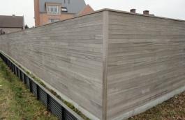 Tuinschermen in hout als afsluiting van uw tuin for Moderne afsluiting tuin