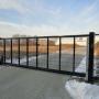 Industriële poorten met draadnetten